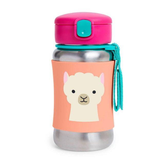 Skiphop- Zoo Stainless Steel Straw Bottle Llama