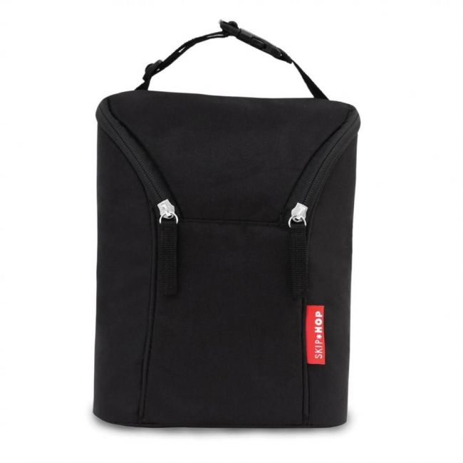 Skip Hop Black Grab & Go Double Bottle Bag
