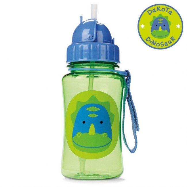 Skiphop Straw Water Bottle Dino