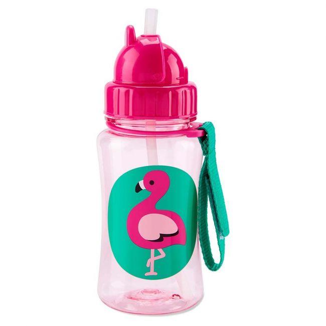 Skiphop - Zoo Straw Bottle Flamingo