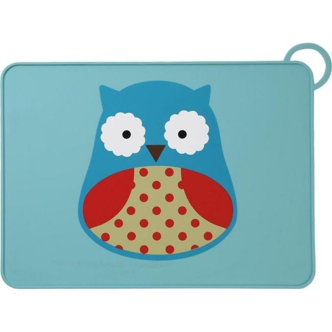 SkipHop Zoo Kid's Silicone Placemat, Owl
