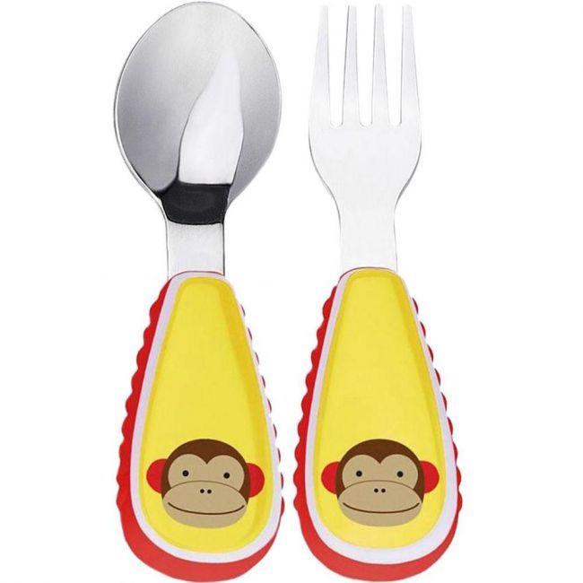 SkipHop Zootensils Fork & Spoon - Monkey