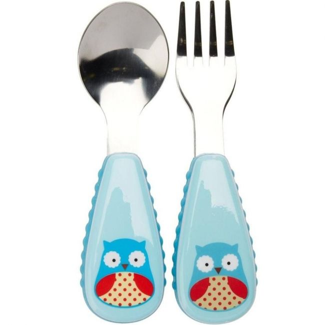 SkipHop Zootensils Fork & Spoon - Owl