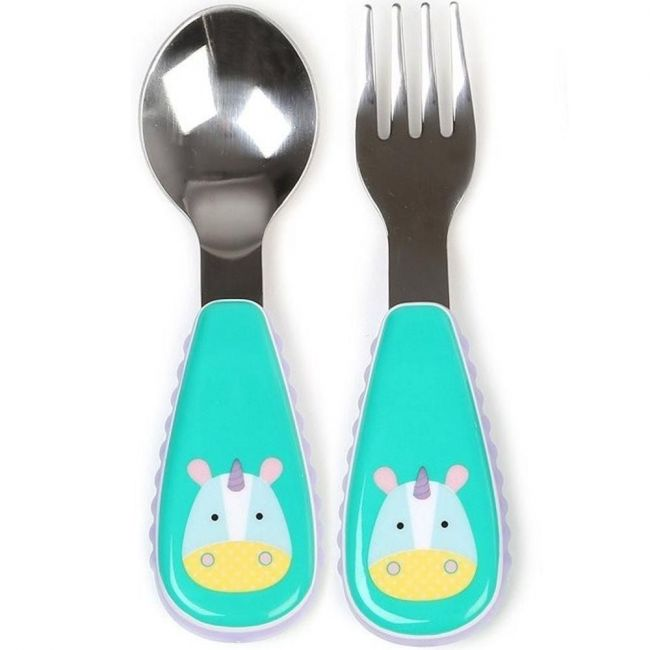 SkipHop Zootensils Fork & Spoon - Unicorn