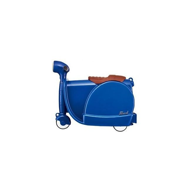 Skoot Navy Blue Kids RideOn Suitcase Childrens Luggage