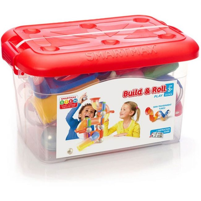 Smartmax Build & Roll By Smartmax - A Magnetic Discovery Building Set Featuring Safe, Extra-Strong, Oversized Building Pieces for Ages 1+
