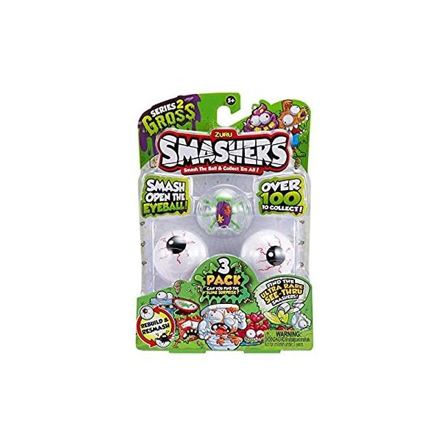 Smashers - S 2 Collectables 3 Pk In Smash Ball
