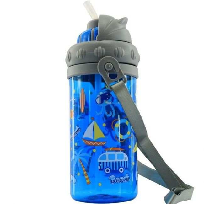 Smily Kiddos Blue Sipper Water Bottle