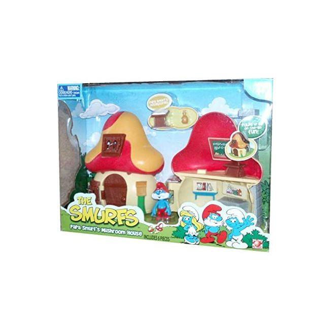 Smurfs - Mushroom House Play Set With Figure