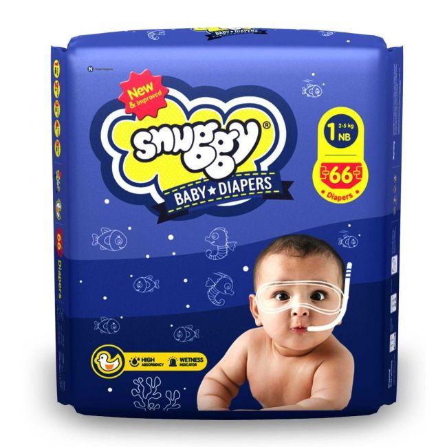 Snuggy - Baby Diaper, 2-5 Kg, New Born - 66 Pcs
