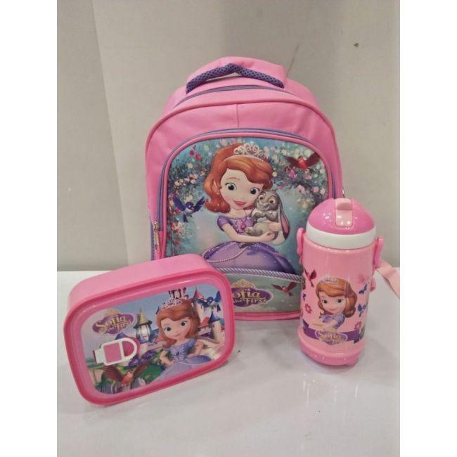 EM - Sofia Princess Bundle Cartoon Bag Lunch Box Water Bottle For Kids