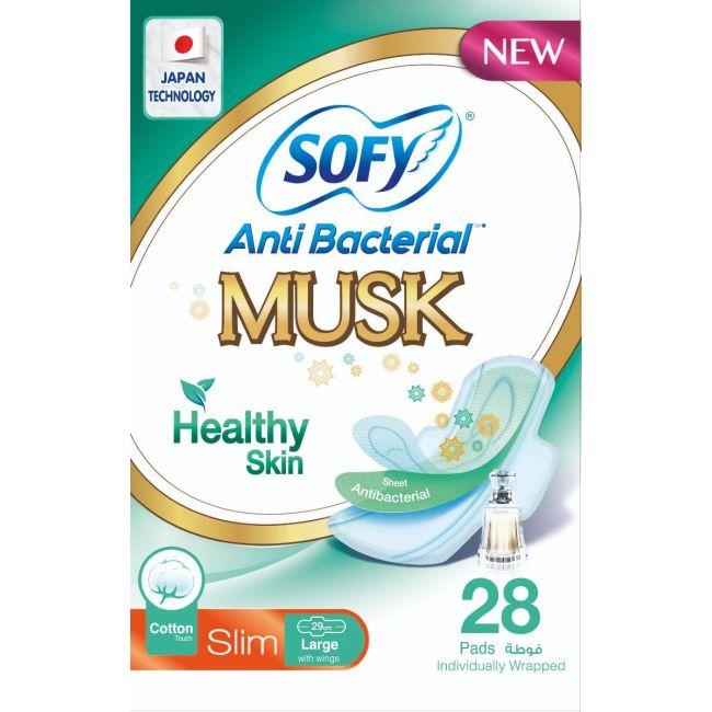 Sofy - Slim Anti Bacteria Musk, Large 29 Cm 28 Pcs
