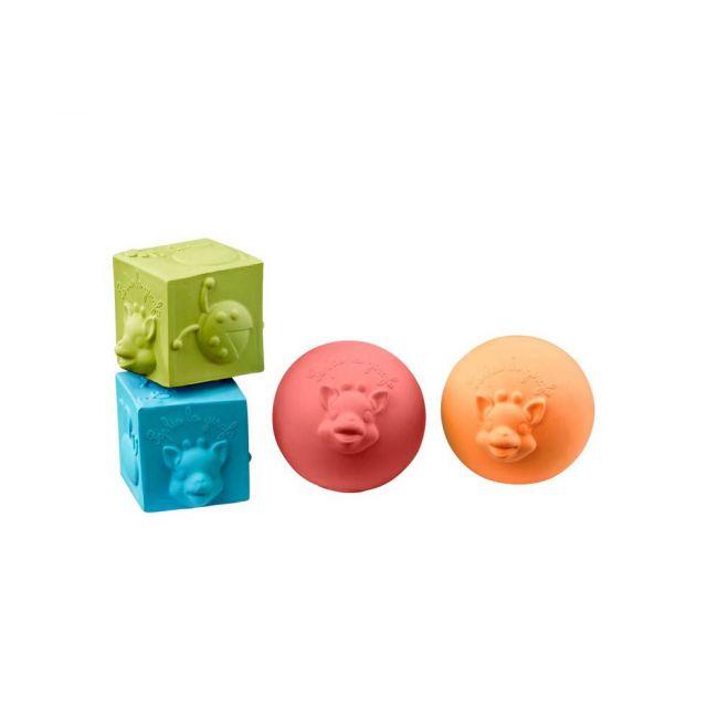 Sophie la Girafe - So'Pure 2 Balls + 2 Cubes Set