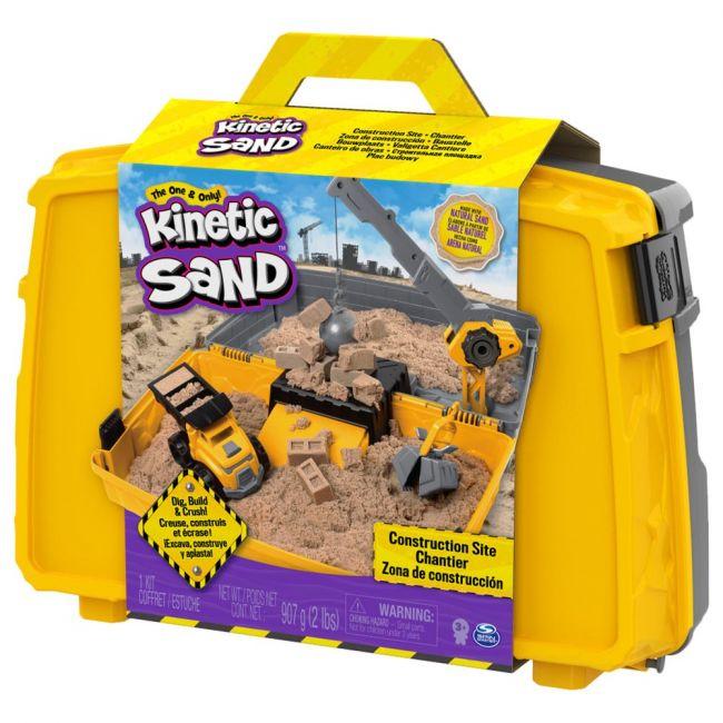 Spin Master - Kinetic Sand Construction Folding Sandbox (2lbs)