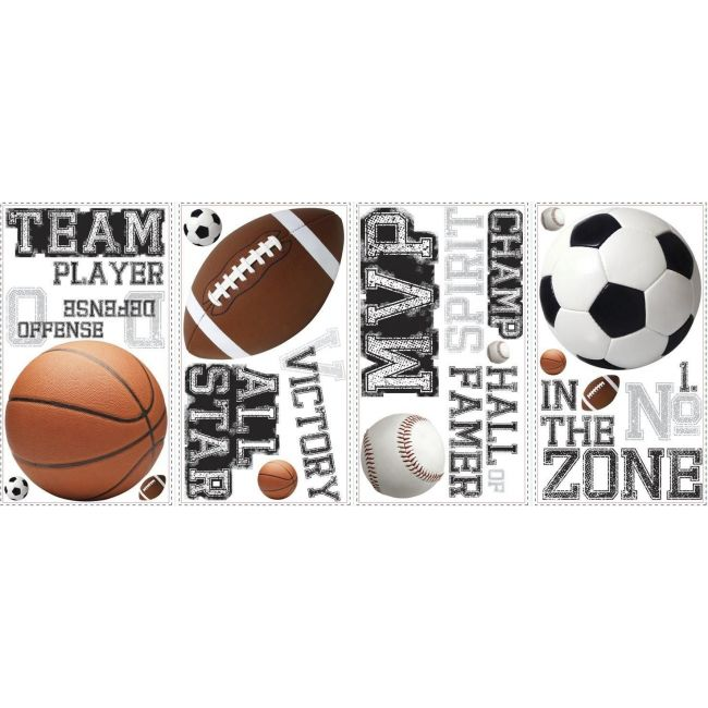 Room mates All Star Sports Saying Peel And Stick Wall Decals