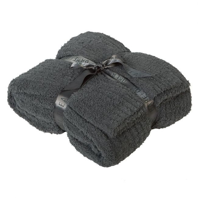 Barefoot Dreams Slate Blue Cozychic Ribbed Twin Blankets & Bedding