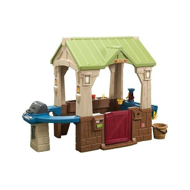 Step2 Great Outdoors Playhouse, Green And Brown - Outdoor Toys