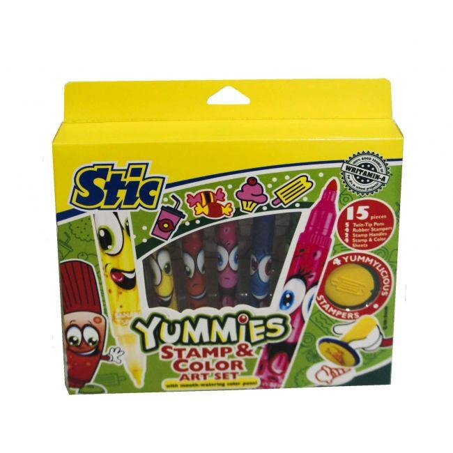 Stic Yummies Stamp & Color Art Set
