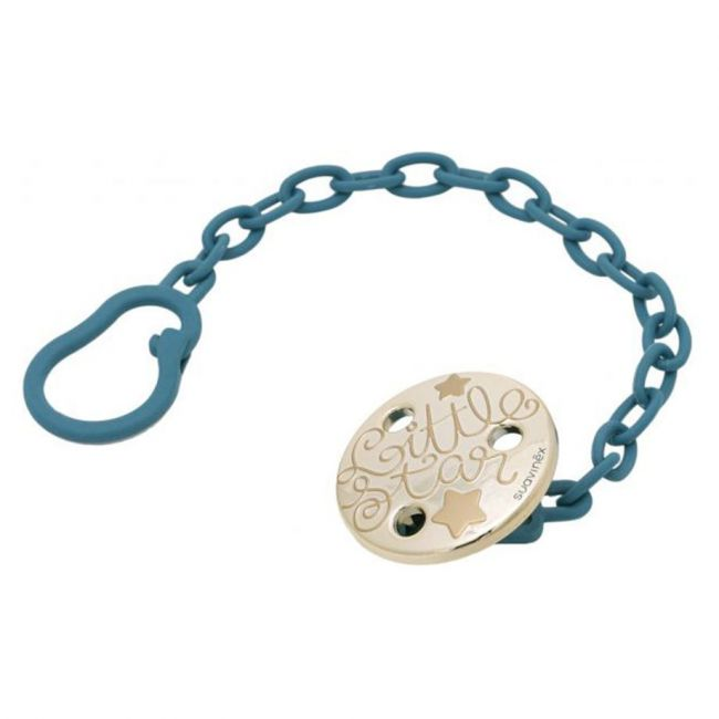 Suavinex Blue Soother Chain With Clip