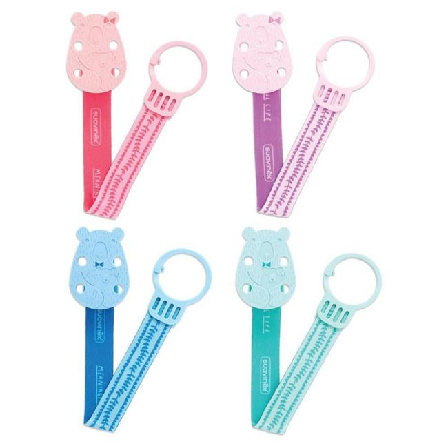 Suavinex Bear Soother Clip With Ribbon 1pc