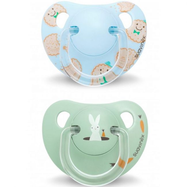 Suavinex Blue Biscuit Anatomical Soother Silicone 6 - 18m 2pcs