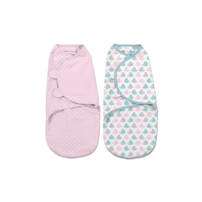 Summer Infant - Swaddle Me Original Swaddle From 0 3 Months Pink Polka Whale 2 Pk