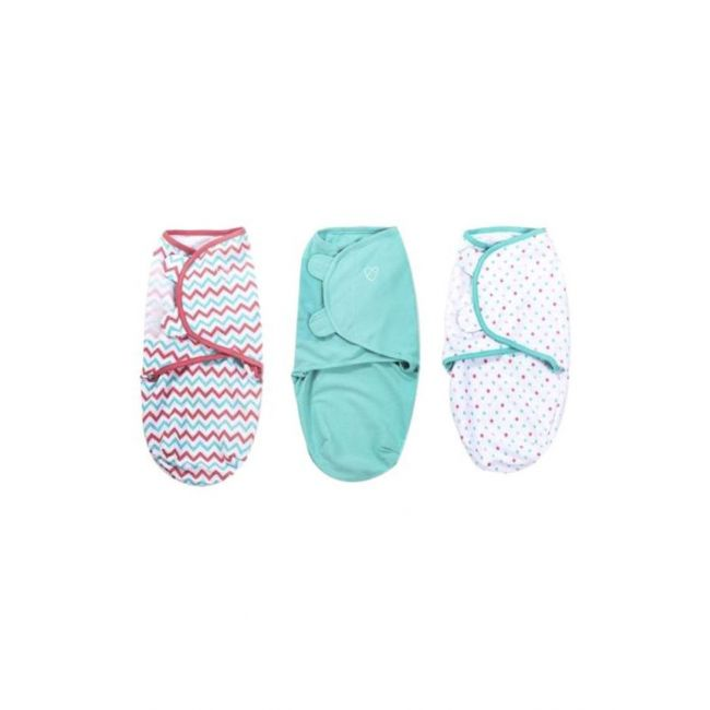Summer Infant - Swaddle Me Original Swaddle From 0 3 Months White Blue Red 3 Pack