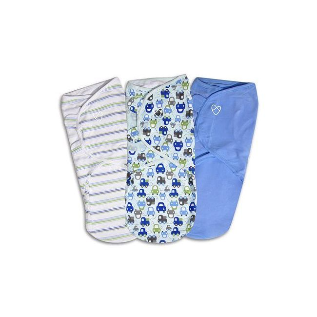Summer Infant - Swaddle Me Original Swaddle From 3 6 Months Graphic Car 3 Pk