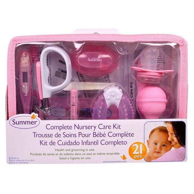 Summer Infant - Pink Complete Nursery Care Kit 21 Piece - Girl
