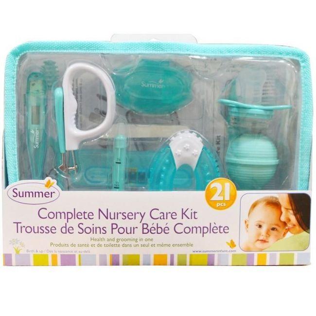 Summer Infant, Blue Complete Nursery Care Kit 21 Piece - Neutral