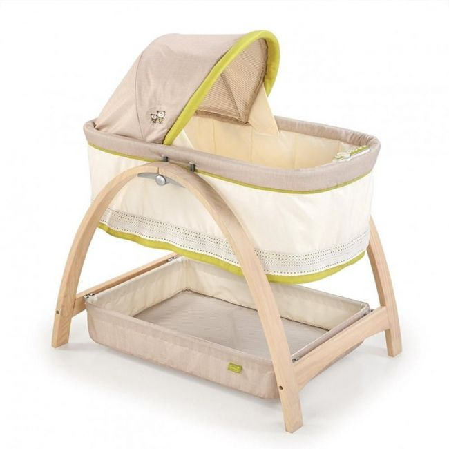 Summer Infant Cream, Bentwood Baby Bassinet With Motion