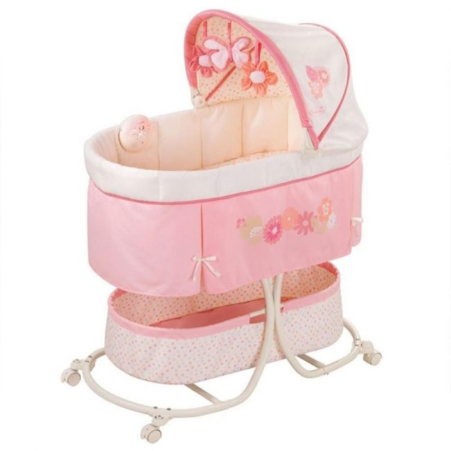 Summer Infant Soothe & Sleep Bassinet With Motion - Pink