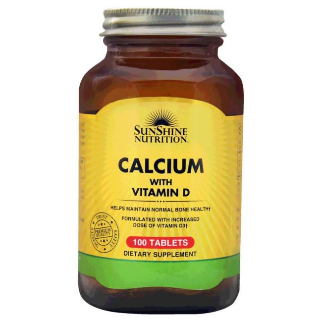 Sunshine Nutrition - Calcium With Vitamin D3 100 Tablets