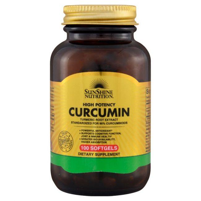 Sunshine Nutrition - High Potency Curcumin 100 Softgels