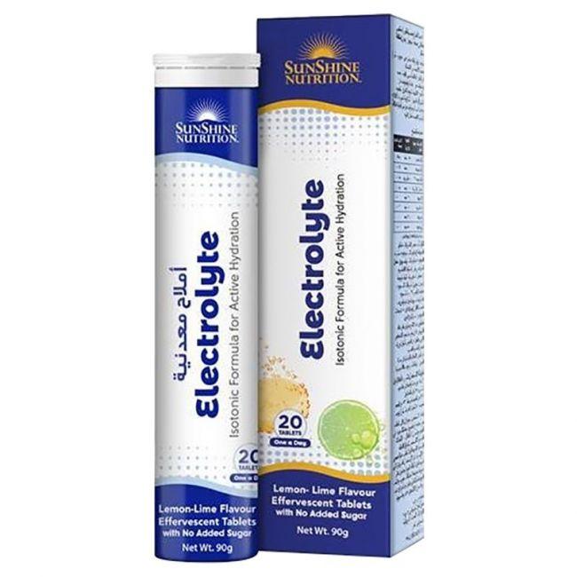 Sunshine Nutrition - Isotonic Electrolyte Effervescent 20 Tablets