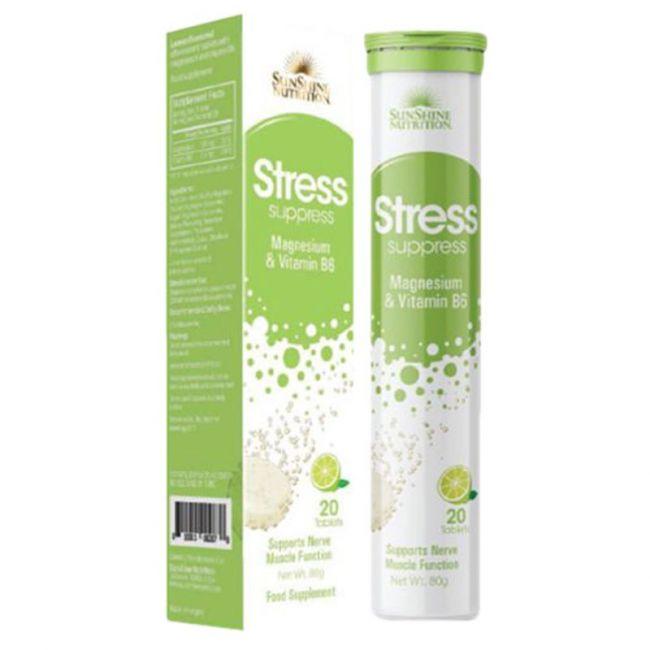 Sunshine Nutrition - Stress Support Effervescent Lemon 20's