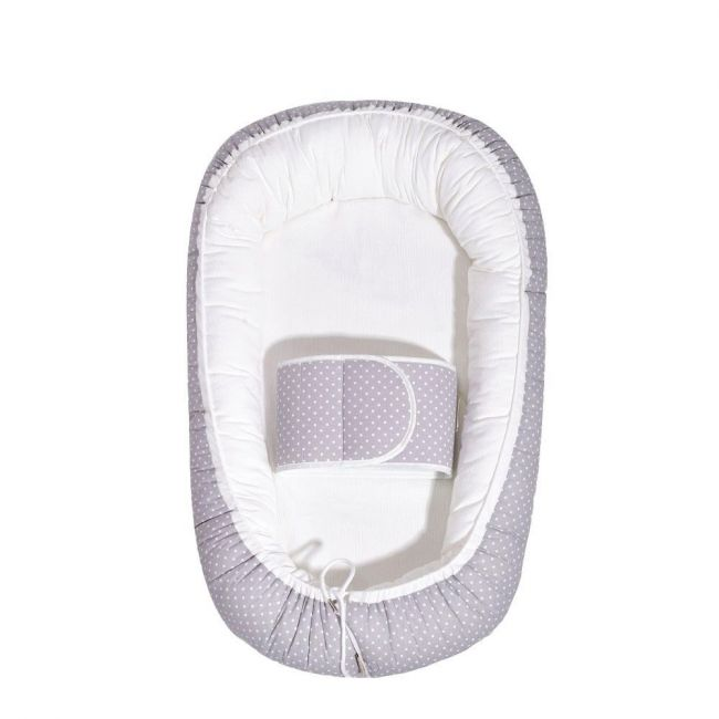 Sunveno – All Season Cozy Baby Nest - White Grey