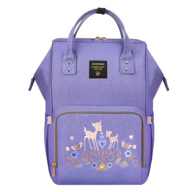 Sunveno - Diaper Bag - Purple Deer