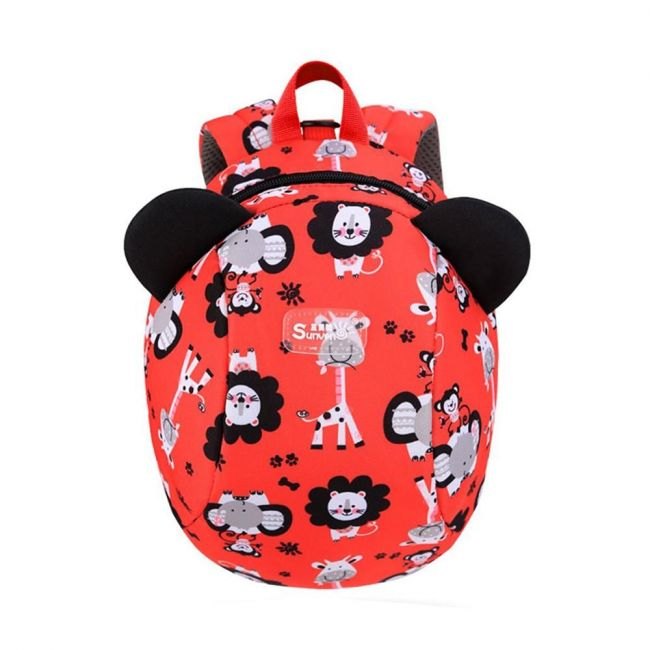Sunveno Zoo Red Backpack for Kids