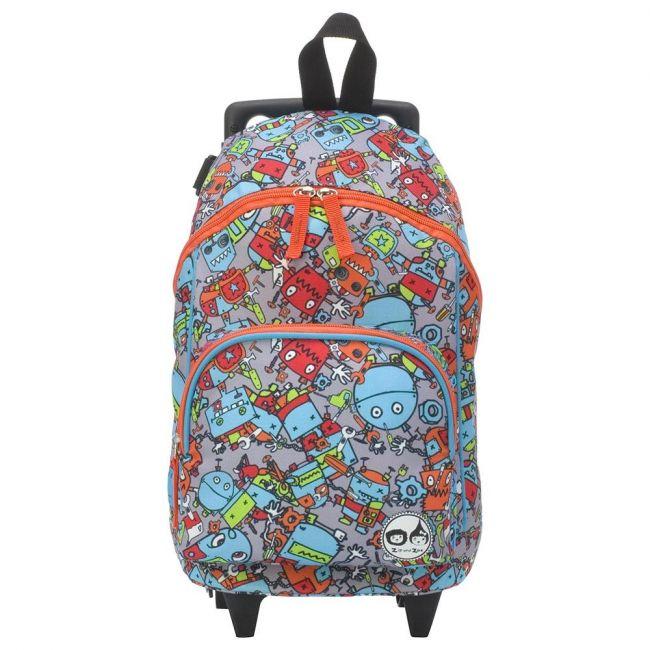 Zip & Zoe Mini Trolley Bag - Robot Blue