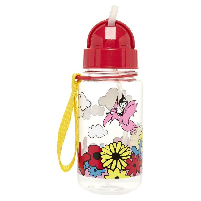 Zip and Zoe Floral Brights Drinking Bottle With Straw