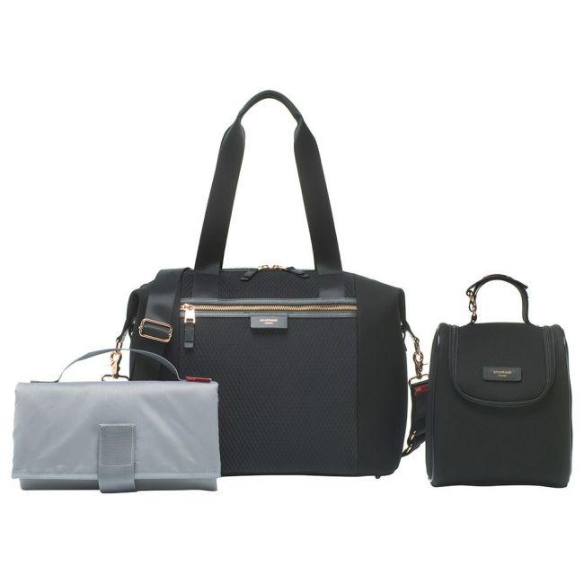Storksak - Stevie Luxe Diaper Bag - Black Scuba