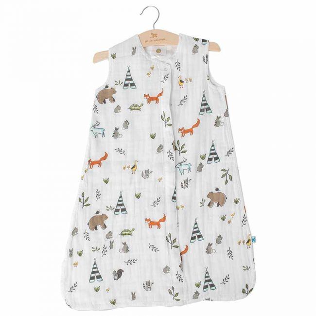 Little Unicorn Cotton Muslin Sleep Bag Large - Forest Friends