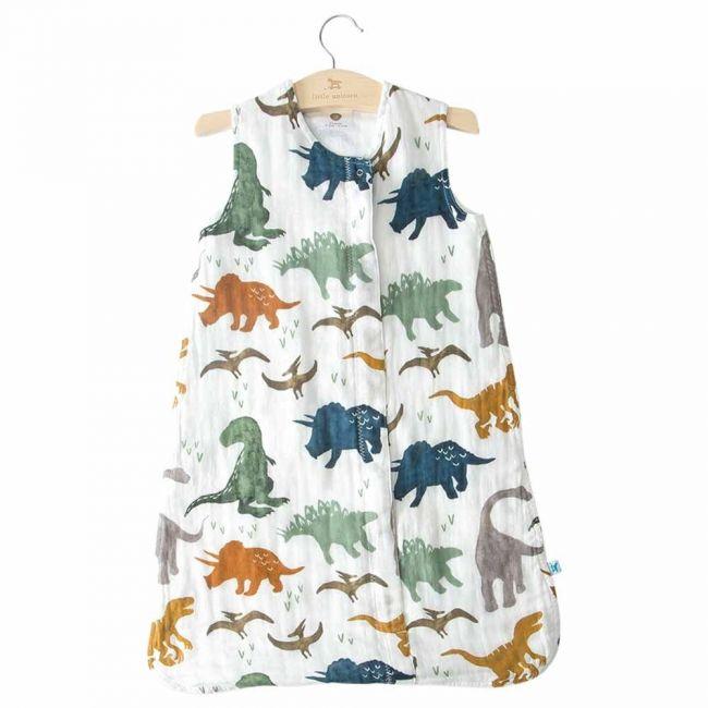 Little Unicorn Cotton Muslin Sleep Bag X-Large - Dino Friends
