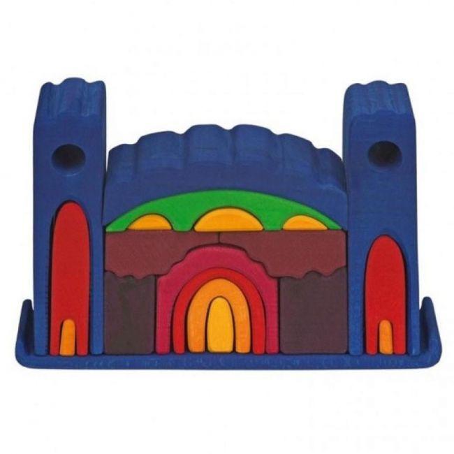 Glukskafer Wooden Coloured Shapes Castle 22pcs