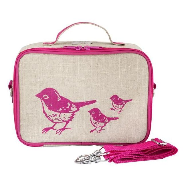 SoYoung Raw Liner Pink Birds Lunch Box