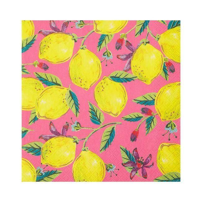 Talking Tables - Boho Pink Lemon Napkin