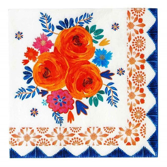Talking Tables - Boho Spice Floral Napkins
