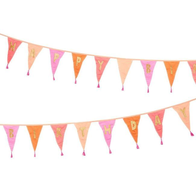 Talking Tables - Happy Birthday Fabric Bunting