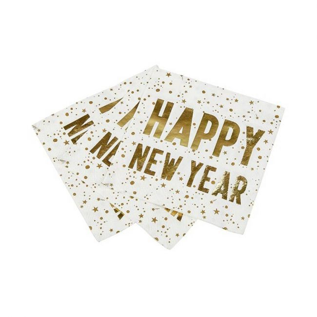 Talking Tables - Luxe Happy New Year Napkin